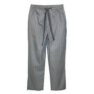 Robert Graham Men's Cotton Sateen Ostra Pajama Pant - Black