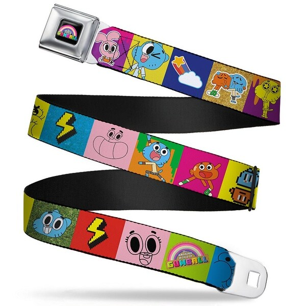 Gumball Face Close Up Black Full Color The Amazing World Of Gumball Darwin Seatbelt Belt