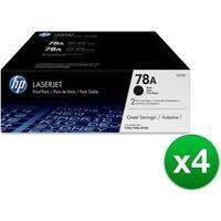 HP 78A Black Original LaserJet Toner Dual Cartridge (CE278D)(4-Pack)