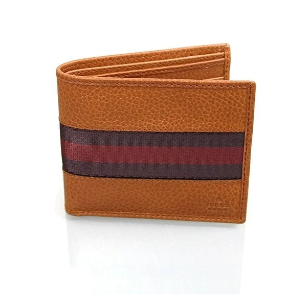 01c48875cf4f Shop Gucci Men s Leather Web Detail Bifold Wallet 231845 7663 - 4 1 ...
