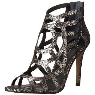 Ivanka Trump Womens Despina Leather Snake Print Dress Sandals - 10 medium (b,m)