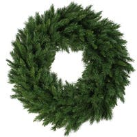 "36"" Lush Mixed Pine Artificial Christmas Wreath - Unlit - green"