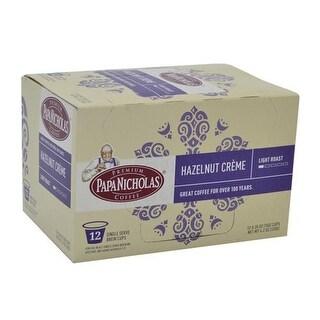 PapaNicholas Coffee Single Serve Coffee K Cups Brewers Hazelnut Creme 12 Pods - 12 Hazelnut