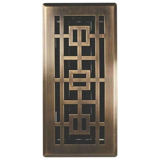 "Imperial RG3284 Oriental Design Floor Register, 4"" x 12"""