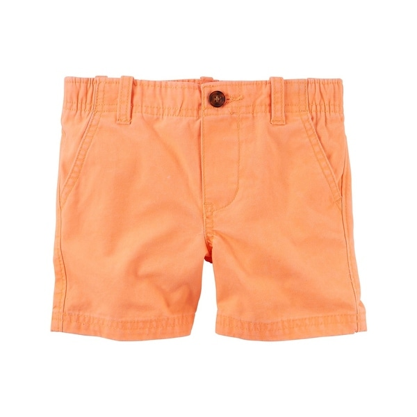 5-Toddler Carters Little Boys Flat Front Shorts Orange