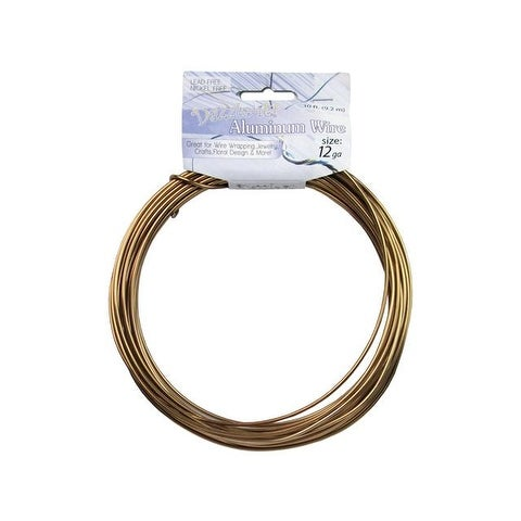 Dazzle It Aluminum Wire 12ga Rnd 30ft Copper