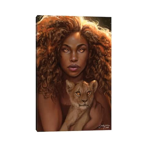 """iCanvas """"Lioness"""" by Hillary D Wilson Canvas Print"""