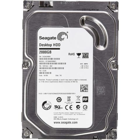 "Seagate ST2000DM001 2TB 64MB Cache SATA 6.0Gb/s 3.5"" Internal HDD (Refurbished) - Silver - 1 x 4 x 5.75 inches"