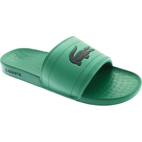 9973c4f9a46a Shop Lacoste Men s Frasier Slide Sandal Green Black Synthetic - Free ...