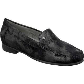 ara Women's Barb 30771 Loafer Black Metallic Suede