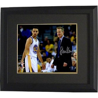 f097dfb04ae Shop Steve Kerr signed Golden State Warriors 8x10 Photo Custom Framed Coach  standing w Stephen Curry - Free Shipping Today - Overstock.com - 19868313