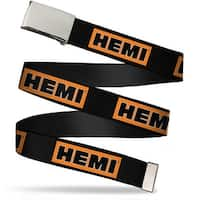 Blank Chrome Bo Buckle Hemi Bold Black Orange White Black Webbing Web Web Belt