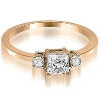 0.60 cttw. 14K Rose Gold Princess Cut Diamond Engagement Ring