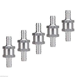 "5pcs Aluminium Non Return Check Valve 10mm 3/8"" One Way Petrol Fuel Diesel Water"