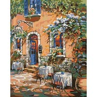 """Paint By Number Kit 16""""X20""""-French Country Cafe"""