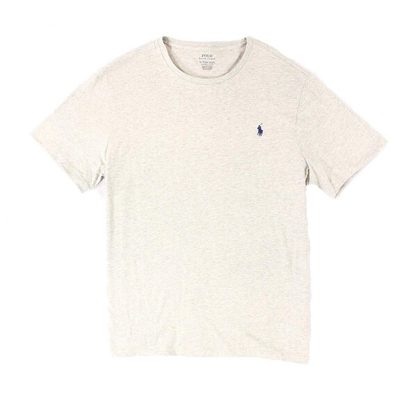 c5ab5fa6b Shop Polo Ralph Lauren Gray Mens Small S Custom Fit Crew-Neck Tee Shirt - Free  Shipping On Orders Over  45 - Overstock - 22308951