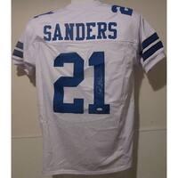 Deion Sanders Autographed Dallas Cowboys white size XL jersey JSA
