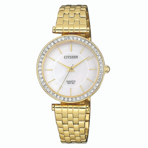Citizen Women's ER0212-50Y 'Classic' Gold-Tone Stainless Steel Watch - Silver