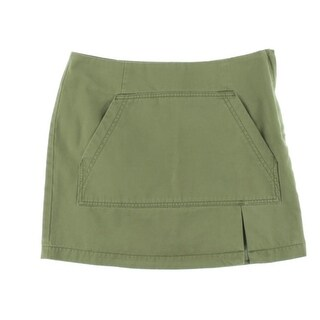 Marc by Marc Jacobs Womens Denim Slit Mini Skirt - 10