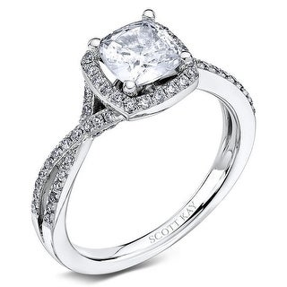 14kt White Gold 0.42CTW Respecting Semi Mount Ladies Engagement Ring from the Namaste by Scott Kay (Option: 9)