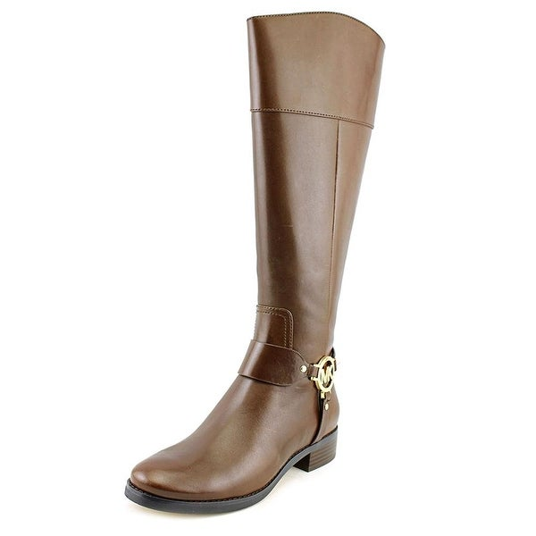 Michael Kors Womens Fulton Harness Leather Almond Toe Mid-Calf Fashion Boots