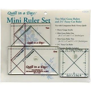Quilt In A Day Ruler Set-3/Pkg