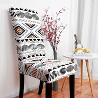 Stretch Washable Short Dining Chair Slipcover Protector