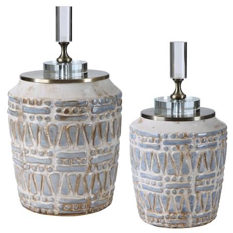 Uttermost Lenape Ceramic Bottles (Set of 2)
