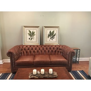 Shop Hancock Tufted Top Grain Italian Leather Chesterfield
