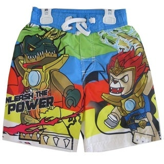 Chima Lego Little Boys Green Blue Red Mini Figures Print Swim Wear Shorts 4T-7