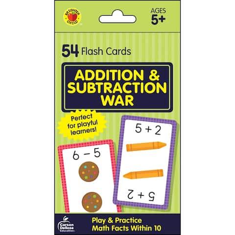 Brighter child add & subtract war flash cards 734083