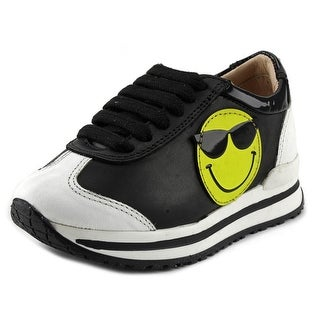 Ruthie Davis Smiley Infant Round Toe Leather Black Sneakers