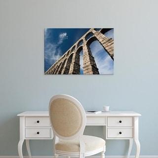 Easy Art Prints Walter Bibikow's 'Roman Aqueduct Ii' Premium Canvas Art