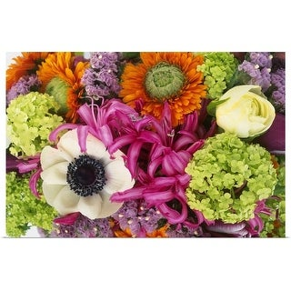 """""""Close up of colourful cut flowers"""" Poster Print"""