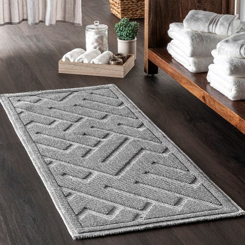 nuLOOm Mazy Abstract Bath Mat