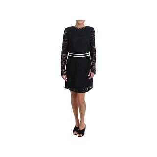 Juicy Couture Black Label Womens Stevie Cocktail Dress Lace Long Sleeves