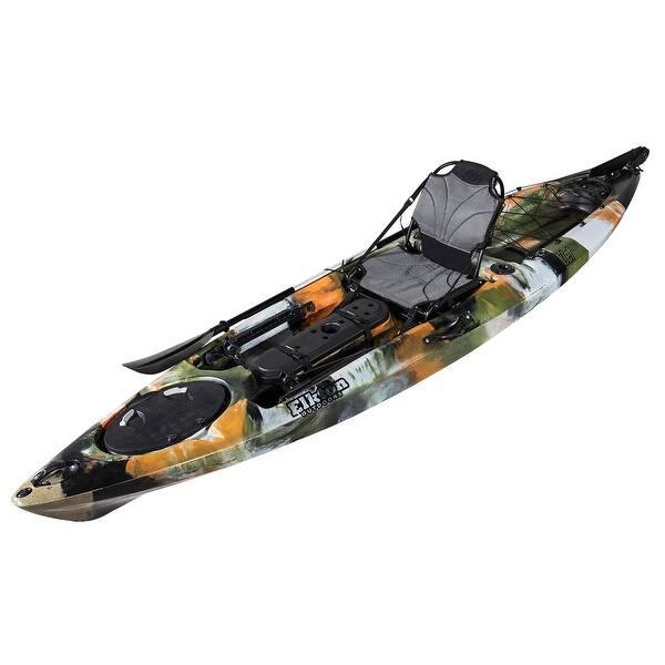 Shop Elkton Outdoors Auklet 120 Fishing Kayak 12 Foot Sit