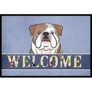 Carolines Treasures BB1405JMAT English Bulldog Welcome Indoor & Outdoor Mat 24 x 36 in.