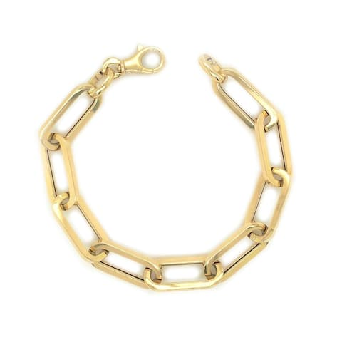 Joelle Gold Link Chain Women's Bracelet - 14K Jumbo Paperclip Link Chain for Her