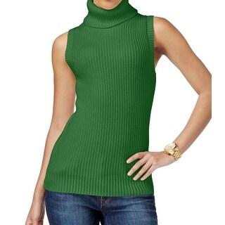 Michael Kors NEW Green Moss Women's Size Medium M Vest Knit Sweater