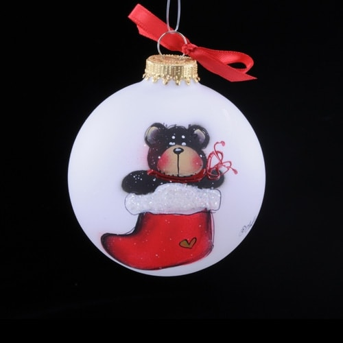 Bear in Stocking Ornament