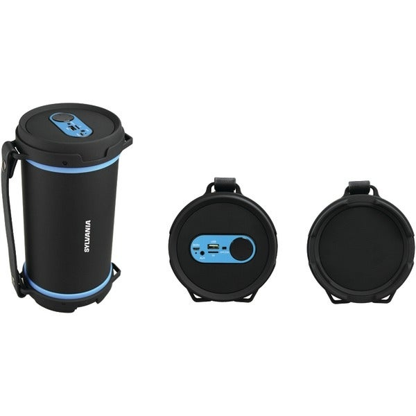 Sylvania Sp807-Blue Hi-Fi Bluetooth(R) Rugged Tube Speaker (Blue)