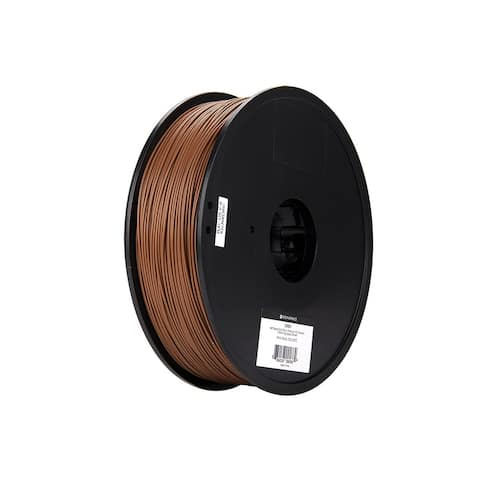 Monoprice MP Select PLA Plus+ Premium 3D Filament 1.75mm 1kg/spool Brown