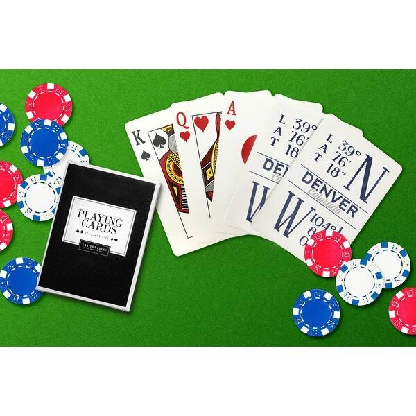 shop denver colorado latitude longitude blue lantern press artwork playing card deck 52 card poker size with jokers overstock 15850396 overstock com