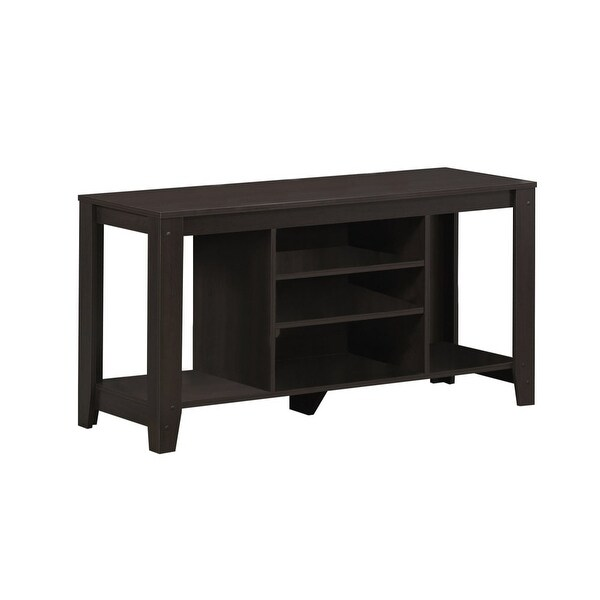 Shop Monarch Specialties I 3529 48 Inch Wide Tv Stand With Shelves