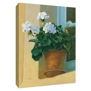 "PTM Images 9-154116  PTM Canvas Collection 10"" x 8"" - ""Creancey Geraniums I"" Giclee Flowers Art Print on Canvas"