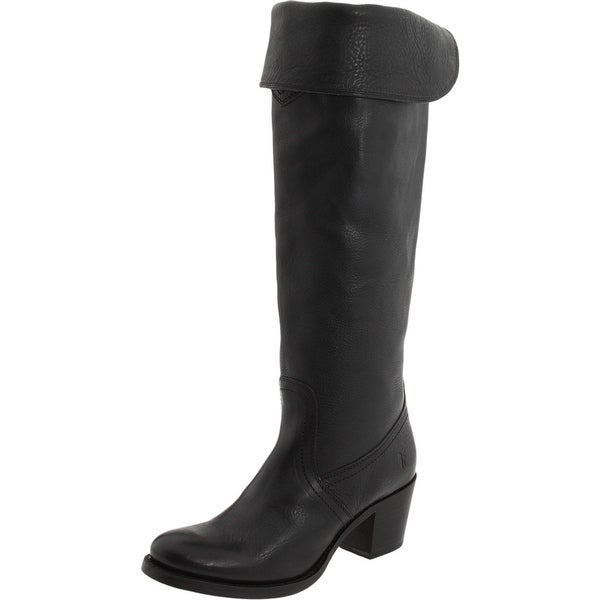 Frye NEW Black Jane Shoes Size 5.5M Knee-High Leather Boots
