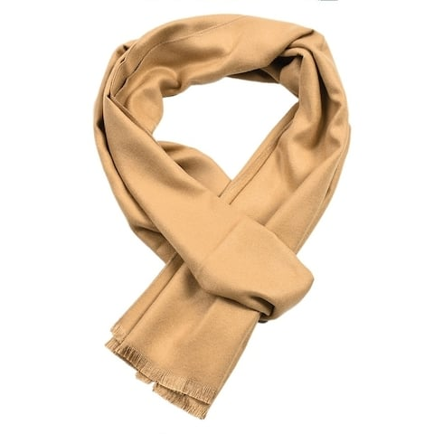 Men's Flannel Solid Scarfs - FREE SIZE