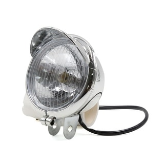 Silver Tone Scooter Motorcycle Yellow Headlight For CM125 Edward