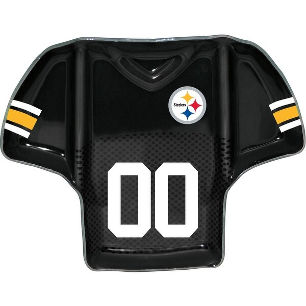 Shop Pittsburgh Steelers Glass Jersey Chip and Dip Tray - Free Shipping  Today - Overstock.com - 25768112 091edd1f3